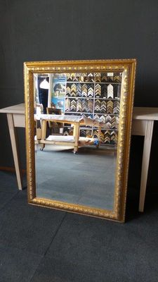 Large mirror with facet - Gold - Large ornamental frame