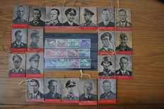 complete series of mini booklets der Tag der Wehrmacht 20 (pieces) stamp series 1943 heroes of the wehrmacht