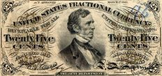 USA - Fractional Currency - 25 cents 1863 - Pick 109