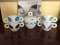 "David Byrne - ""Alien cups"" Illy collectible espresso cups"