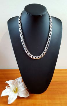 Heavy silver curb necklace 925 kt