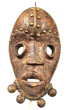 Runner Mask with Bells - DAN - Cote d'Ivoire