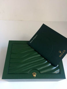 Rolex box, number 31.00.64 with Rolex Milgauss instruction booklet.