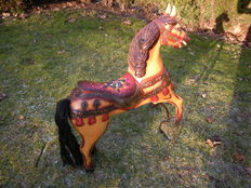 Carousel horse - timber wood - height 65 cm