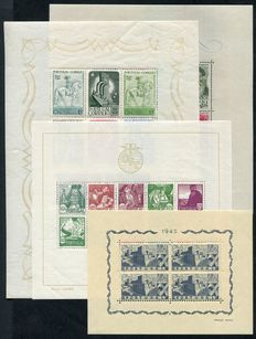 Portugal 1940/45 - Selection of 4 minisheets - SG MS919a, 941a, 976a, 996a