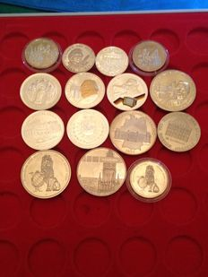 Germany, 15 different medals including silver ones