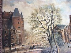Unknown (20th century) - old Dutch cityscape (Utrecht)