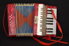Accordion Bontempi  for childs , mother pearl - italy mid 20th century