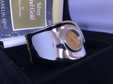 Franklin Mint - Alfred Durante - silver and gold watch