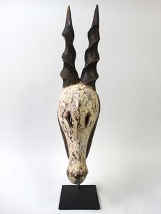 African wooden Antilope mask - KWELE - Cameroon