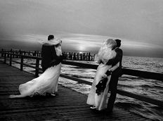 "Irena Giedraitienė - Sunset in Palanga, Lithuania - from ""Wedding"" series, 1974"