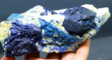 Rare Fluorescent Afghanite Specimen with Lazurite and Golden Pyrite on Matrix-  152 x 76 x 50 mm - 731gm