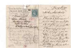 "France 1870 - Balloon mail ""LE CHARAS (A)"""