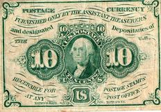 USA - Fractional Currency - 10 cents 1862 - Pick 98c
