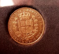 Kingdom of Sardinia – 20 lira, 1840, Charles Albert – gold
