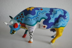 Ann Clemens - Cow Parade - type COW DOODLE- Medium and Retired
