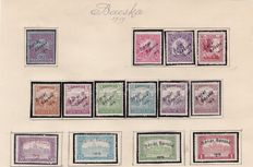 Hungary 1919 - Occupation stamps - Banat , Bacska Issue - a collection on old album