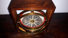 Antique brass dry compass, J.M. Kleman & Zoon, Amsterdam, ca. 1825