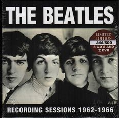 """The Beatles: """"Recording sessions 1962-1966"""" 8 cd + 2 dvd Unofficial  Limited Edition Box set in Sealed & Unplayed condition!"""