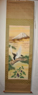 Scroll with a bird – Japan – 2nd half 20th century