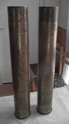 Pair of shell casings - great war of the trenches 1914/1918