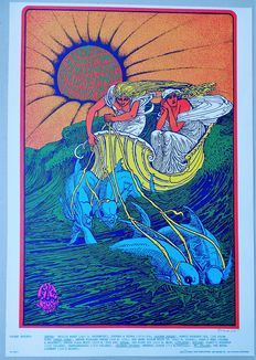 Dance Concert Canned Heat 1967 Poster Bob Fried San Francisco USA