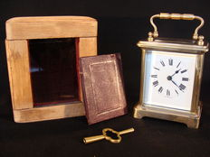 Small carriage clock with case – circa 1890