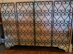 Four wrought iron grilles - Italy, about 1920