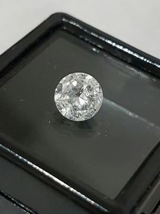 1.06 ct Round Brilliant Diamond - F Color Clarity SI3