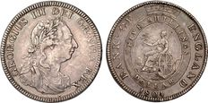 United Kingdom - 5 Shillings/Dollar 1804 (Bank of England) George III - silver