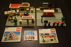 Classic Town - 671 + 377 + 379 - Shell Fuel Pumper + Shell Service Station + Bus Station