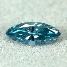 Eisblauer Diamant - 0.10 ct