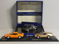 Minichamps - Scale 1/43 - Lot with 3 models: De Tomaso, Lotus & Renault Alpine