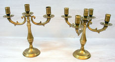 Set of two bronze candlesticks - United Kingdom - first half of 20th century