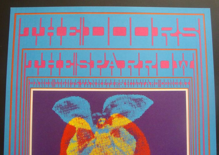 "The Doors Family Dog Avalon Poster San Francisco 1967 Victor Moscoso ""Butterfly Lady"""