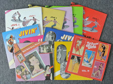 Lot of 11 albums. Jive Jive Jive. 5 volumes of the Jive Jive Jive serie. 4 volumes of the Jivin' gilrls party series. Hot boppin' girls and Wild wild young women