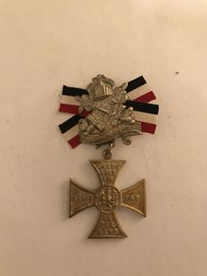 "German Warriors Association - with cross ""Mit Gott für König und Vaterland"" from 1900"