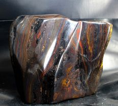 Tiger's Eye/ Iron Stone hand-polished free-form - 141 x 145 x 100mm - 4131gm
