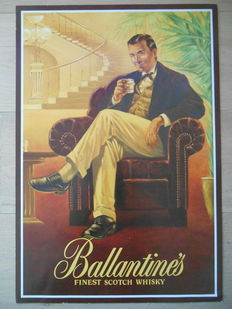 rare advertising poster for 'Ballentine's finest Scotch Whisky'