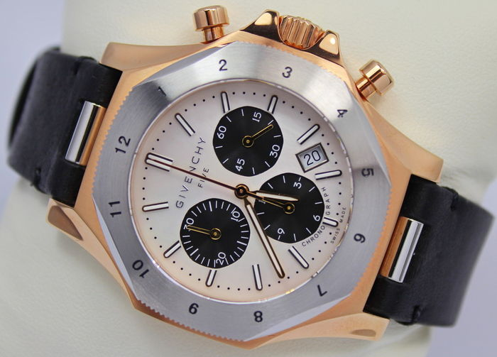 Givenchy swiss made chronograph mens watch unworn catawiki for Givenchy watches