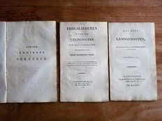 Lot with 3 pamphlets relating to the Napoleonic wars - 1814