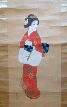Scroll painting of a Beauty – Japan – first half 20th century