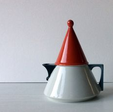 Teapot , design by J. Kronester in Memphis style