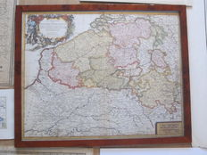 Europe, Germany, Italy, the Netherlands e.a.; 71 maps and plans - (mostly) 19th century