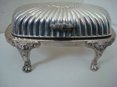 Silver-plated caviar/butter dish - 1940s/1950s - N ° 357 F.B. Rogers Silver Comp. 1883