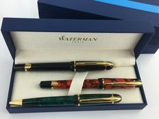 3 Waterman Phileas, with boxes, in mint condition