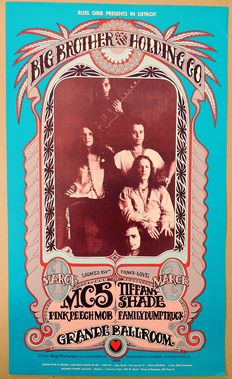 Dance Concert 1968 Janis Joplin/ MC5 Detroit USA