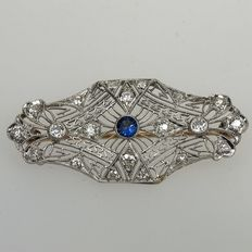 Gold diamond brooch, approx. 0.53 ct diamond in total, VS Top Wesselton