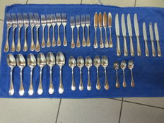 40 pieces by Christoffle perle silver plated cutlery