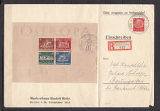 German Empire 1935/37. Envelopes (with circulation), with Ostropa block sheets. Michel No. 3, 7.